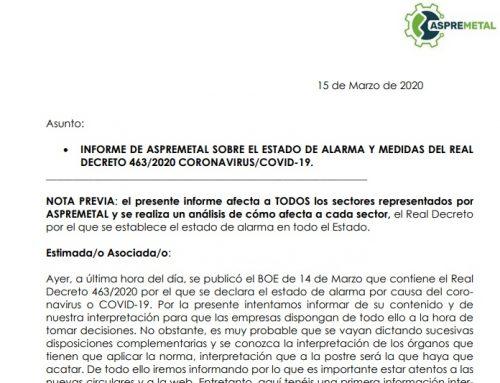 INFORMACIÓN COVID-19, ESTADO DE ALARMA