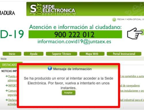 COMPARTE LA DENUNCIA DE ASPREMETAL SOBRE EL MAL FUNCIONAMIENTO DE LA SEDE ELECTRÓNICA DE LA JUNTA PARA TRAMITAR INSTALACIONES