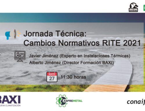 JORNADA «MODIFICACIONES DEL REGLAMENTO DE INSTALACIONES TÉRMICAS (RITE)»